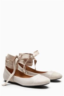 Signature Ankle Wrap Ballerinas