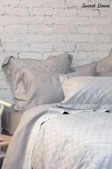Secret Linen Store Teasels Dove Grey Pillowcase