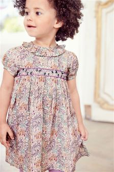 Ditsy Shirred Dress (3mths-6yrs)