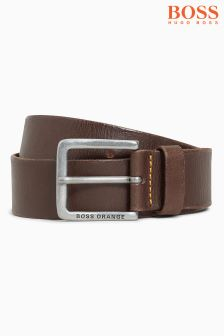 Boss Orange Brown Leather Jeek Belt
