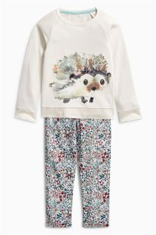 Hedgehog Woven Bottom Pyjamas (3-16yrs)
