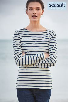 Seasalt Cream/Navy Breton Sailor Shirt