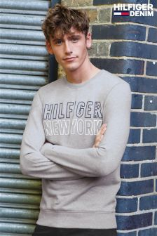 Hilfiger Denim Grey Graphic Crew Neck Knit