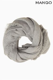 Mango Grey Textured Scarf