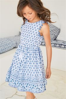 Tile Border Dress (3-16yrs)