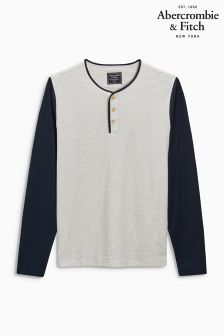 Abercrombie & Fitch Grey Raglan Long Sleeve T-Shirt