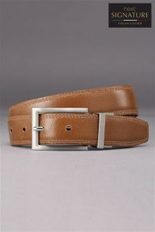 Signature Italian Leather Reversible Belt