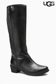 Ugg® Black Barton Croco Knee High Leather Boot