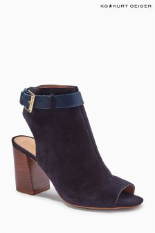 Kurt Geiger Rippley Navy Suede Cut Out Boot