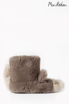 Boden Grey Horse Slipper