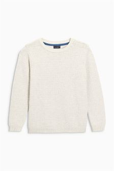 Textured Crew Jumper (3-16yrs)