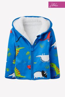 Joules Blue James Reversible Fleece