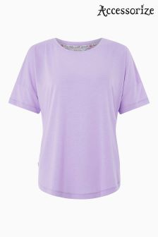 Accessorize Purple Mesh Back T-Shirt