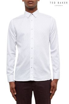 Ted Baker White Floral Geo Print Shirt