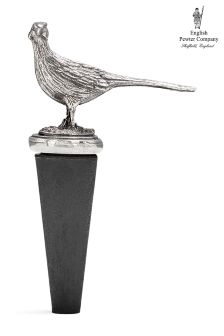 English Pewter Company Pheasant Bottle Stopper
