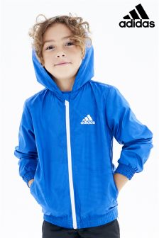 adidas Little Kids Blue Windbreaker Jacket