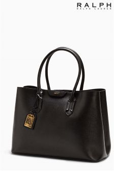 Ralph Lauren Black Leather Shopper Bag