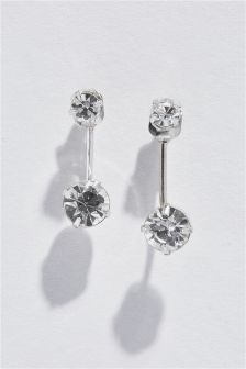 Crystal Effect Front To Back Earrings