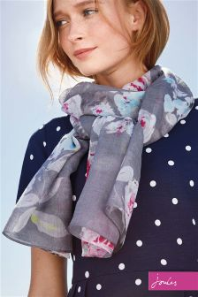 Joules Grey Beau Bloom Julianne Longline Scarf