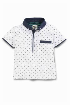 Short Sleeve All Over Print Polo (3mths-6yrs)