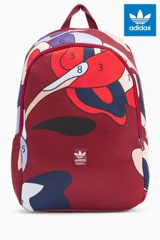 adidas Originals Burgundy Rita Printed Backpack