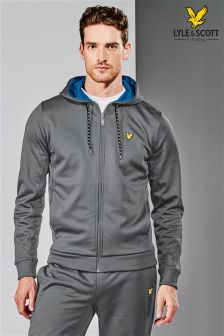 Lyle & Scott Performance Grey Hill Zip Through Hoody
