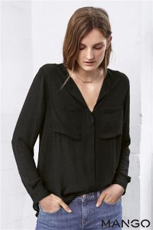 Mango Black Shirt