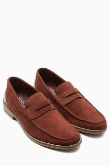 Suede Saddle Loafer