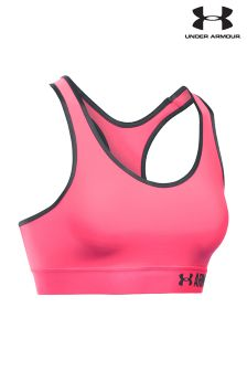 Under Armour Pink Shock Mid Support Bra