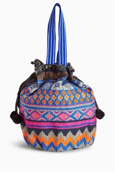 Bright Woven Duffle Bag