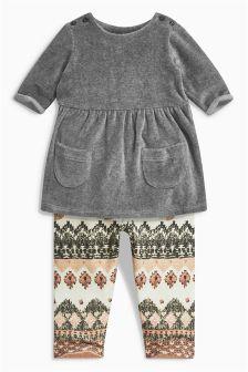 Dress And Leggings Set (0mths-2yrs)