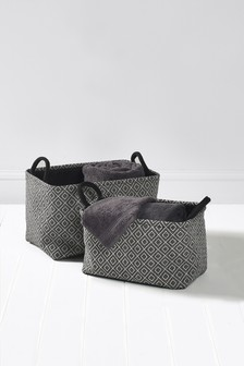 Set Of 2 Geo Baskets