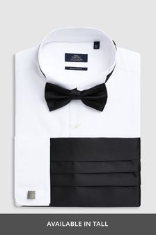 Shirt With Bow Tie, Cummerbund And Cufflinks