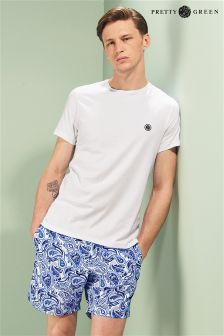Pretty Green Navy Paisley Swim Short