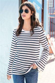 Stripe Knit Look Top