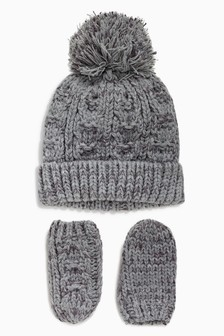 Bobble Beanie Two Piece Set (Younger)