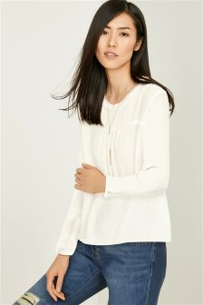 Rib Trim Blouse