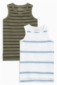 Striped Vests Two Pack (3-16yrs)