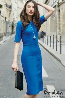 Boden Blue Barbara Ponte Dress