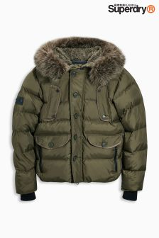 Superdry Faux Fur Hooded Padded Jacket