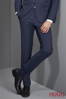 Hugo Tailoring Navy Check Trouser