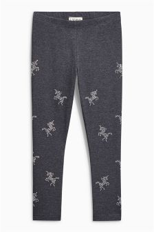 Studded Unicorn Leggings (3-16yrs)