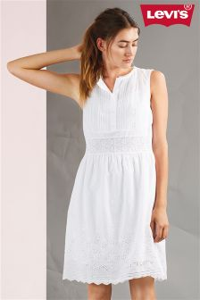 Levi's® Cornet White Embroidery SL Claudia Dress