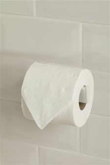 Moderna White Toilet Roll Holder