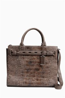 Large Structured Tote Bag