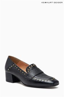 KG Black Keekee Stud Square Toe Loafer