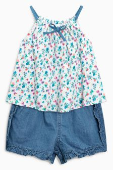 Ditsy Vest And Shorts Set (3mths-6yrs)