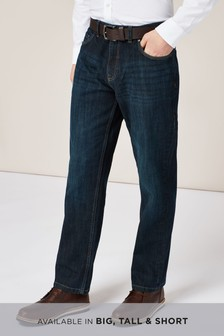 Mens Smart Jeans | Denim Smart Jeans | Slim Fit Smart Jeans | Next