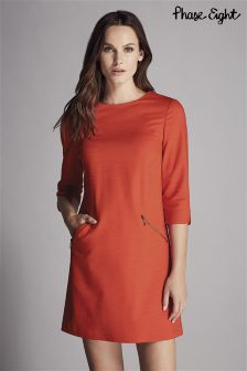 Phase Eight Red Ponte Zip Saphire Dress
