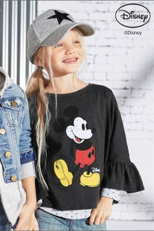Mickey Mouse™ Trumpet Sleeve T-Shirt (3-16yrs)